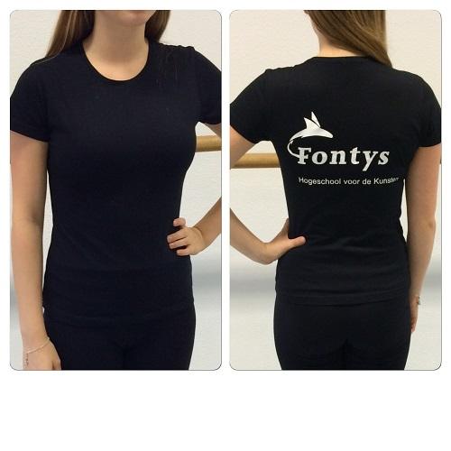 FONTYS BASIS T-SHIRT RONDE HALS