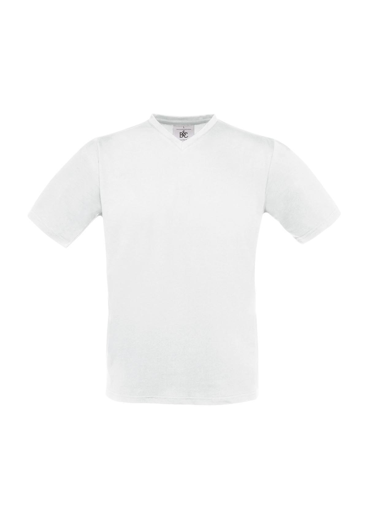 V NECK - WHITE